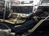 Old Drunk Causing Trouble On A San Francisco MUNI Bus