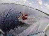 One Foot Waterskiing Goes Wrong