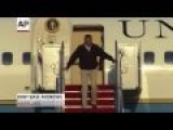Obama Stumbles On Air Force One Steps