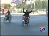 Over Smart Paki Police On Bike