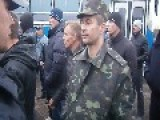 Pro-Russian Activists Disarm The National Guard Of Ukraine Artemovsk City
