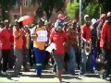 Protest Outside A KFC In South Africa Is Dispersed With Stun Grenades