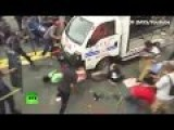 Police Vehicle Rams Thru Protesters In US Embasy -Philippines