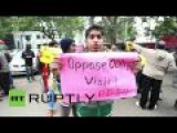 People Protest Against Obama's Visit To India