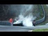 Porsche GT3 Smokes Off At Nürburgring Nordschleife