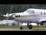Pilatus PC-12 Takeoff And Fly-By