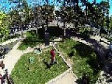 Parkour, Plaza Pedro De Valdivia. Santiago De Chile