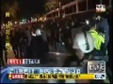 Police Smash Demonstrators In Taipei, Taiwan