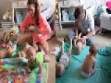 Parents Of Triplets Compete In A Diaper Change Challenge