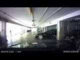 Porsche Driver Crashes Into Parked Car