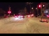 Pedestrian Gets Snowed By A Train