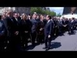 Policeman Refuses To Shake The French President And PM Hands
