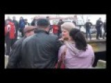 Pro-Russian Protesters Beat An Old Lady After She Critisized Military Action And War