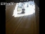 Patrolman Suddenly Hit By A Car