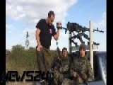 P. Gubarev Pickup NSV Machine Gun In Novorossian