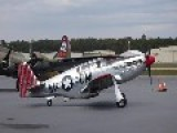 P-51C Mustang Static, Taxi,take Off And Flyby