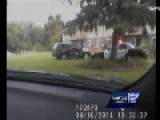 Police Chase - Grass Spin - Teen Gets Love Tap From Cruiser