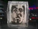 Portrait Of Muhammad Ali Made Out Of Punching Bags