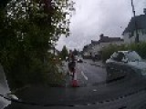 Pedestrian Clears Tree From Road