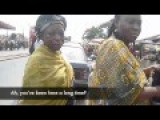 Pretty Jewish US Lady In Nigeria Talking To Locals