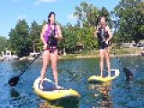 Paddleboarding Double Fail