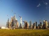 Paramotor Pilots Racing Over Dubai