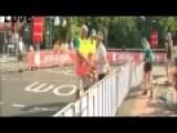 Postman Freaks Out Over Tour De France Road Closure, Hahahahaha