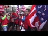 Pro And Anti-China Mobs Chanting Outside Nuclear Summit In US