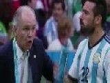 Player Squirts Water At His Coach During World Cup Game