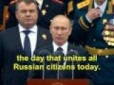 Putin Victory Day Speech May 9, 2012 English Subtitles