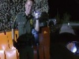 Popping Refusal At US Border Patrol Checkpoint - Agent Grabs Weapon And Seizes Balloon