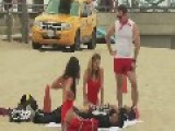 Practising Mouth-To-Mouth Resuscitation With Hot Girls