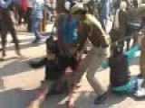 Police Lathi Charge On Students At Punjabi University, Patiala