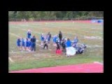 Pee Wee Football Team Clotheslined By Banner