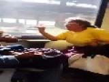 Pissed Off Woman On Da Train