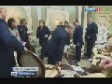 Putin Pushes Chair Do Not Give A Squat February 11, 2015 Norman Quartet, Meeting In Minsk