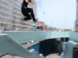 Parkour Fail! Guy Literally Break His Ass
