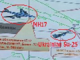 Proof Ukrainian Su-25 Fighter Jet Shadowed Malaysian Flight MH17 As It Was Shot Down Despite Ukrainian Denials