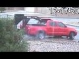 Pickup Truck Tries To Steal Trailer