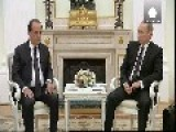 Putin And Hollande Agree On Greater Cooperation Over Syrian Air Strikes
