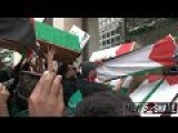 Protestors Throw Caskets Outside Washington Post Office