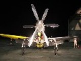 P-51 Mustang Engine Test Run