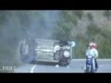 Peugeot Drift Fail - Car Nearly Hits Biker