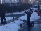 Police Draw Guns After Responding To Reports Of Snowball Fight In New Rochelle, NY