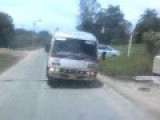 Public Transport In Suriname - Bus Doing The Swingelow En Ends Up In A Ditch
