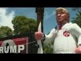 Protesters Display Inflatable Trump In KKK Robes At Phoenix Rally