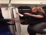 Possessed Woman Attacks A Man While On A Train