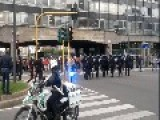 Police Clash With Students In Milan