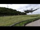 Pilatus PC-12 Insane Low Landing At St. Barts