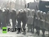 Poland: Watch Riot Police Water Cannon JSW Miners